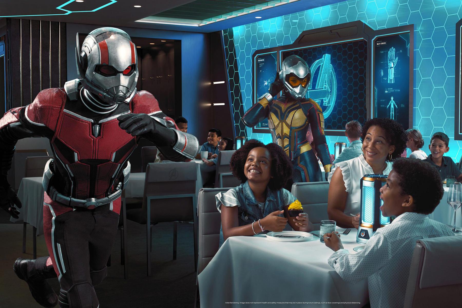 Cruzeiro Disney terá uma experiência gastronômica com tema da Marvel